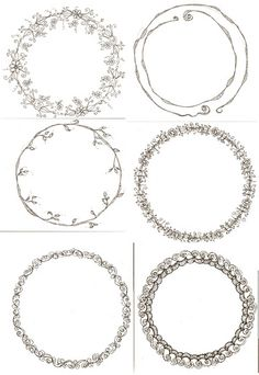 Circles - so lovely! Thinking these would be great on jars of jam/jelly/chutney.
