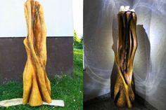 """Hallo Holzskulptur mit der Motorsäge geschnitzt und anschließend mit LED-Beleuchtung angestrahlt. Der Titel """"die Grotte"""" ist duch die Aushöhlung in der Skulptur entstanden,die wie eine Grotte aussieht.Auf meinem YouTube Kanal """"Lars carving"""" könnt Ihr sehen wie die Skulptur entstanden ist  Der Kurzfilm ist in einzelne Abschnitte geteilt, so das man sehen kann wie so eine Skulptur vom Anfang bis zum Ende entsteht. Viele Grüße"""