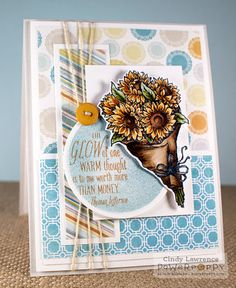 """Celebrate the gorgeous glow of the late summer garden, and create cards that warm the hearts of friends and family. Which will you use first? There's a nifty paper-wrapped bunch of sunflowers (think """""""