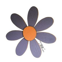 Handcrafted Large Wooden Wall Hanging Flower Made From Upcycled Wood $25 This item comes ready to hang. It is handmade by a skilled woodworker from recycled wood and hand-painted. It spans 2 feet, so it is a great accent to any wall!  Want different colors? Just send us a custom product request and we would be happy to make anything you want!