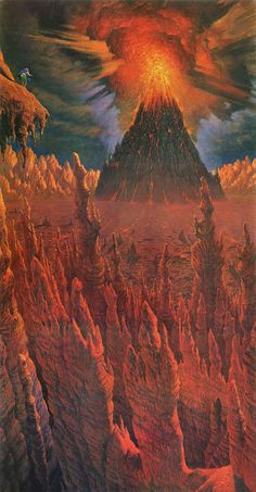 Sam's First View Of Mordor - Darrell Sweet, the illustrator of The Wheel Of Time books!