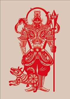 Juxtapoz Magazine - Nod Young: Journey To The West Folk Religion, Chinese Paper Cutting, Chinese Element, Journey To The West, Monkey King, China Art, Best Graphics, Graphic Illustration, Paper Art