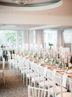 Modern country club wedding venue: http://www.stylemepretty.com/canada-weddings/ontario/toronto/2017/02/28/anna-david/ Photography: When He Found Her - https://www.whenhefoundher.com/