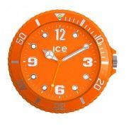 Orange ICE wall clock