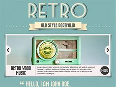Buy Retro Portfolio - One Page Vintage WordPress Theme by opendept on ThemeForest. Retro Portfolio is The One Page Vintage WordPress Theme. Now Responsive! IMPORTANT: Retro Portfolio (Version is NO. Design Web, Web Design Company, Retro Design, Affordable Website Design, Website Design Services, Website Designs, Website Ideas, Theme Website, Free Website Templates
