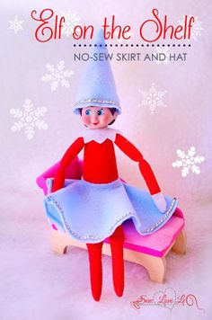 SewLoveLe: No-Sew Elf on the Shelf Skirt and Hat