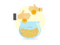 Crowdfunding illustration by Ivan Kozmon
