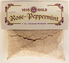 White Rose/ Peppermint Incense 1618 gold 1 lb