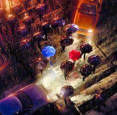 The Blue Umbrella I Loved This So Much Disney Love Magic