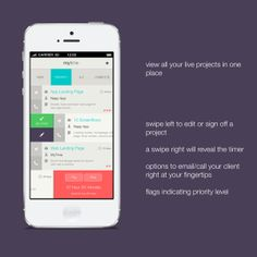MyTime - client manager by Ben Dunn, via Behance Interesting interaction ideas Dashboard Design, App Ui Design, User Interface Design, Time Management Apps, Mobile Ui Design, Ui Design Inspiration, Ui Web, Interactive Design, Behance