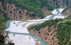 The riverbed of Petriliotis at Karditsa, Thessaly. Rivers, Trekking, Lakes, Travelling, Greece, Hiking, Explore, Mountains, Outdoor Decor