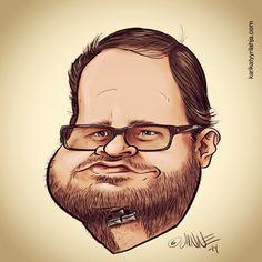ELC crew... Tuomas Enbuske karikatyyri. Tuomas Enbuske caricature.