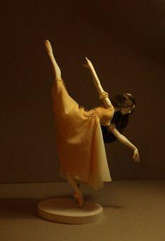 """Bjd doll ballerina """"Juliet"""" collection """"Ballet"""" by Olga Sanina Ballet Pictures, Dance Pictures, Beautiful Lines, Beautiful Dolls, Ballet Painting, Dancing Dolls, Ballerina Doll, Porcelain Ceramics, Fine Porcelain"""