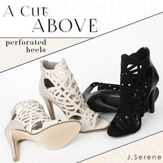 Sexy. Cool. Confident. Shopping for statement shoes for fall? www.jserene.com #lovejserene #jserene #fashionmilk #fall #tuesday #tuesdayshoesday #love #perforated #booties #fashiondiaries #potd #sotd #fashion #fashionistas