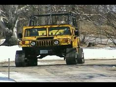 This is a short comparison demonstrating the difference between tires and tracks. tires with Dana and lockers would not get you through the snow lik. Hummer H3, Hummer Cars, Hummer Truck, Jacked Up Trucks, 4x4 Trucks, Custom Trucks, Ford Trucks, Fords 150, American Motors