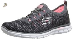 Skechers Sport Women's Glider Deep Space Fashion Sneaker, Charcoal/Coral, 8.5 M US - Skechers sneakers for women (*Amazon Partner-Link)