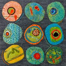 Material Mavens: Barbaras Cell Under the Microscope this could be done with Home Deco Barbaras Cell material Mavens Microscope textile art Embroidery Art, Embroidery Stitches, Quilt Modernen, Science Art, Fabric Art, Fabric Painting, Art Lessons, Fiber Art, Needlework