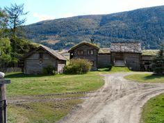 Gudbrandsdalen farm. My ancestors lived at a farm like this in the valley near Skjåk.