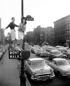Carmen Dell'Orefice and Betsy Pickering for Harper's Bazaar, 1958. Photo by William Helburn.