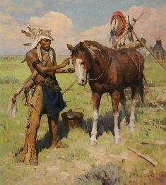 Painting His War Horse by Z.S. Liang N.A ۩ ART ۩ Z.S.LIANG➳ʈɦuɲɖҽɽwσℓʄ➳: