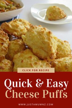 Super Quick & Easy Cheese Puffs is part of Cheese puffs - Delicious Cheese Puffs, the easiest best recipe around! You will love how quick and delicious these are, be sure to make a double batch! Healthy Bedtime Snacks, Quick Snacks, Savory Snacks, Quick Easy Meals, Cheese Snacks, Cheese Dishes, Healthy Cooking, Cooking Recipes, Cooking Ideas