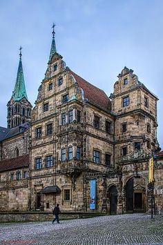 Bamberg, façade of the episcopal court, Germany Europe Centrale, European River Cruises, Beau Site, Imperial Palace, Voyage Europe, Central Europe, Beautiful Buildings, Germany Travel, Travel Around The World