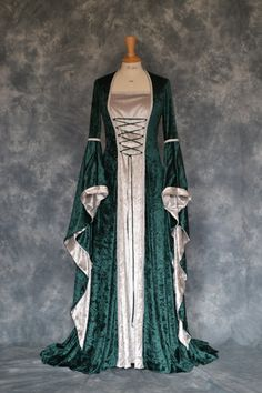 Rowena, a Medieval, Pagan, Elvish Custom Made Hand Fasting, Wedding Dress Pagan Wedding, Medieval Wedding, Celtic Wedding, Medieval Fashion, Medieval Clothing, Gypsy Clothing, Vintage Clothing, Elvish Dress, Renaissance Wedding Dresses