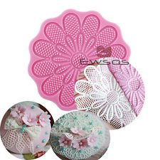 Lace soft Silicone sunflower embossor Mold Fondant Cake cupcake Decorating tools