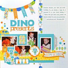Dino Presents - Scrapbook.com - Made with Doodlebug Designs.