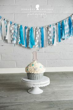 C is One! – Healdsburg cake smash photographer » Jeneanne Ericsson Photography grey white and teal