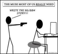 Although, my muse should carry a sword...