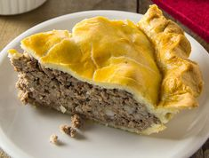 a traditional pork pie served by generations of French-Canadian families throughout New England and Canada. French Canadian Meat Pie Recipe, French Meat Pie, Canadian Cuisine, Canadian Food, Canadian Recipes, Tortiere Recipe, Meat Recipes, Cooking Recipes, Curry Recipes