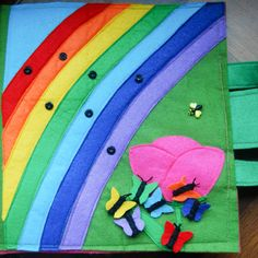 The Quiet Book Blog: Magda's Princess Quiet Book. Rainbows, baking, butterflies, princess wardrobe... a whole bunch of neat quiet book pages!