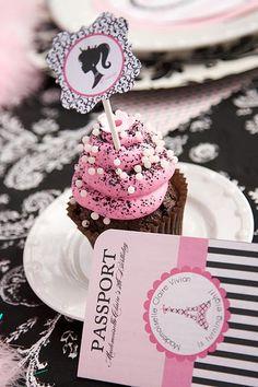 Cupcake and passport