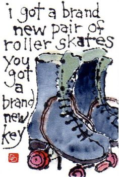 Oh Yea, and these came after the key skates that clamped to the sides of your shoes.