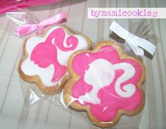 <3 Barbie silhouette cookie