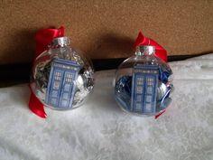 Tardis Doctor Who christmas Ornaments by danyellamichella on Etsy, $4.00