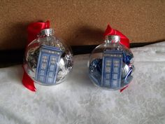 TARDIS Doctor Who christmas Ornaments by danyellamichella on Etsy, $4.00