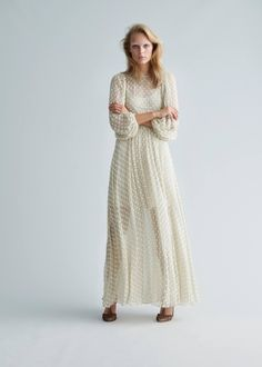 There's a new designer on my radar and her name is Stine Goya. The Danish designer studied prints at Central Saint Martins and her expertise is evident in her feminine, artfully printed collections. Her most recent collection, which launches this week, is full of delicately dotted dresses,