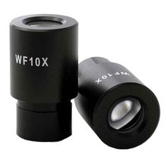 Pair of Wf10x Microscope Eyepieces (23mm) by AmScope