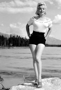 missmonroes:  Marilyn Monroe photographed during the filming of River of No Return, 1953