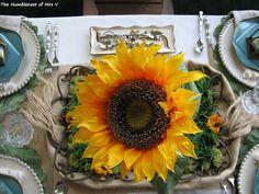 Proud 'magic' Sunflower Centerpiece, requires no vase