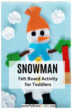 Felt Snowman Activity for Toddlers Quiet Time Activities, Christmas Activities, Winter Activities, Craft Activities, Preschool Activities, Indoor Activities, Family Activities, Preschool Classroom, Christmas Crafts