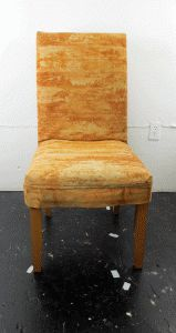 rust dyed slipcover