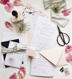 mint watercolor wedding suite | a fabulous fete