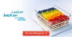 Ein Frucht-Dessert aus frischem Obst und leckerer Milch-Schnitte®. Erfrischend und lecker auch für warme Tage.