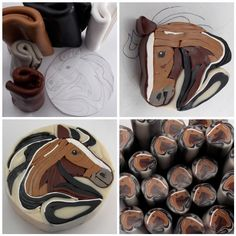 polymer clay horse cane