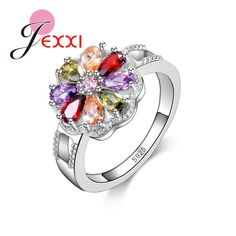 PATICO Size 6/7/8/9 Luxury Design Fashion Colored CZ Diamond Engagement Rings 925 Sterling Silver Wedding Rings For Women