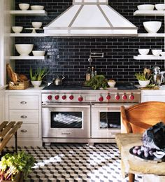 We Have Collected Some Really Great Black Subway Tiles Design To Give That  Modern Touch To Your Kitchen. Checkout Black Subway Tiles In Modern Kitchen  ...