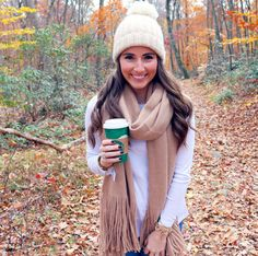 Love this scarf & hat combo!